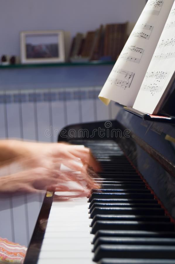 Playing Bach royalty free stock photography
