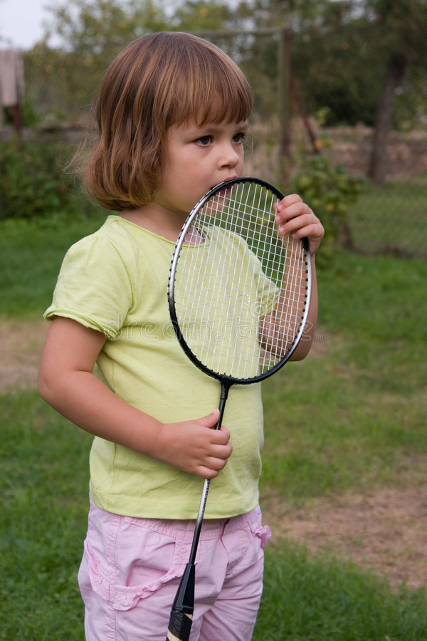 Download Playing badminton stock image. Image of cute, child, active - 3132135