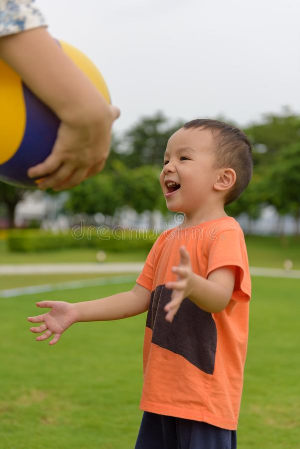 Playing ball royalty free stock photography
