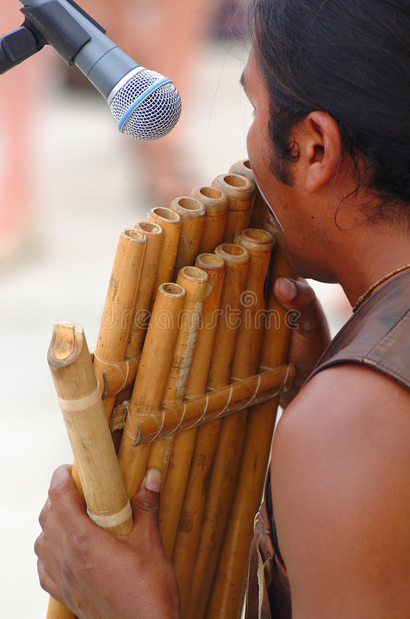 Download Playing Bamboo Flute Stock Photo - Image: 1104610