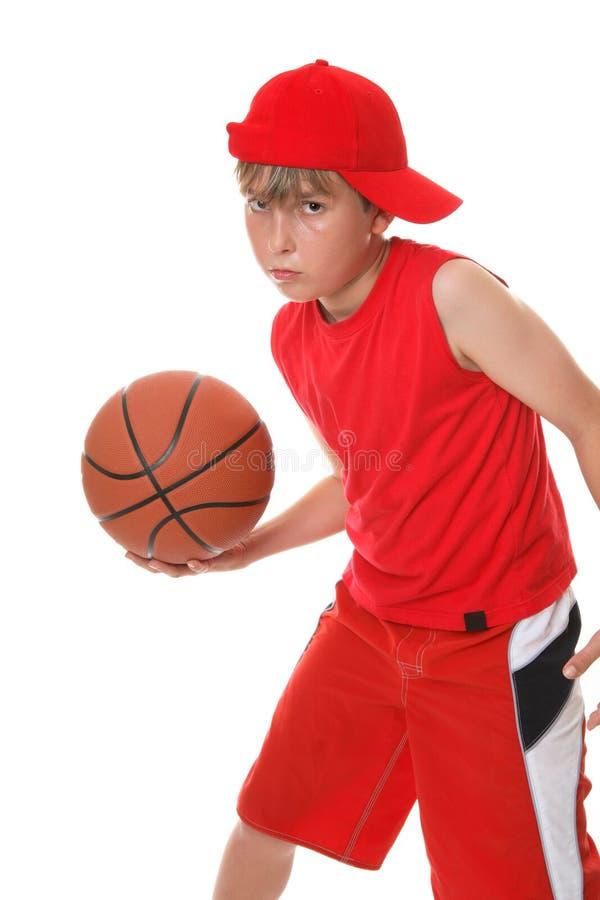 Playing basketball stock photography