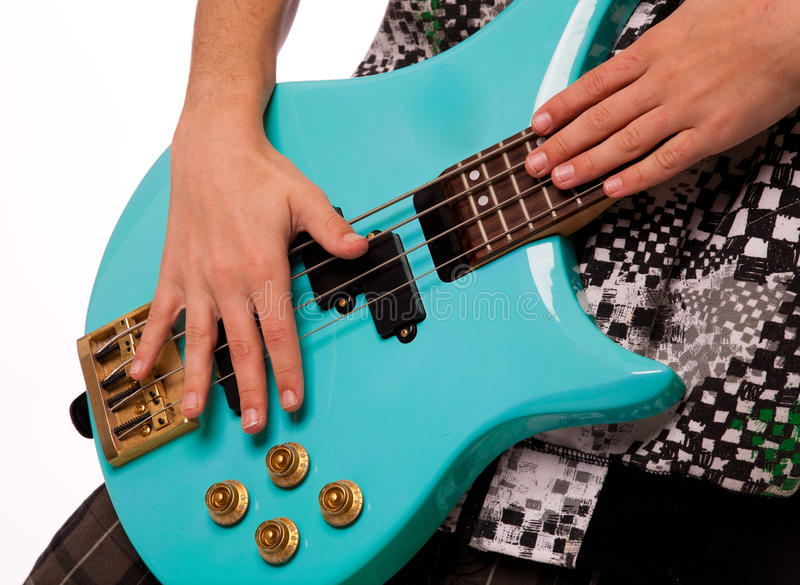 Download Playing Bass Guitar Stock Image - Image: 22014391