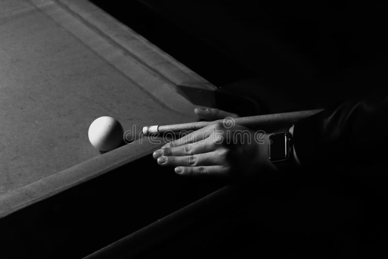 Playing in the billiards. Art photo royalty free stock photo