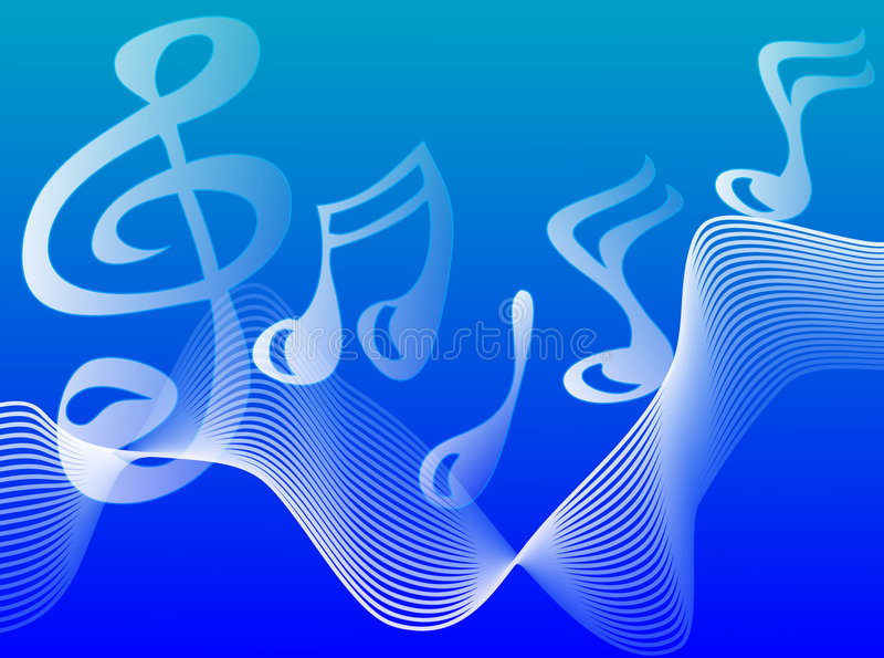Playing the Blues stock illustration