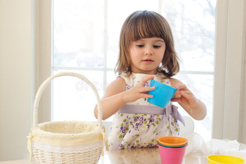 Download Playing with buckets stock photo. Image of preparation - 16522452
