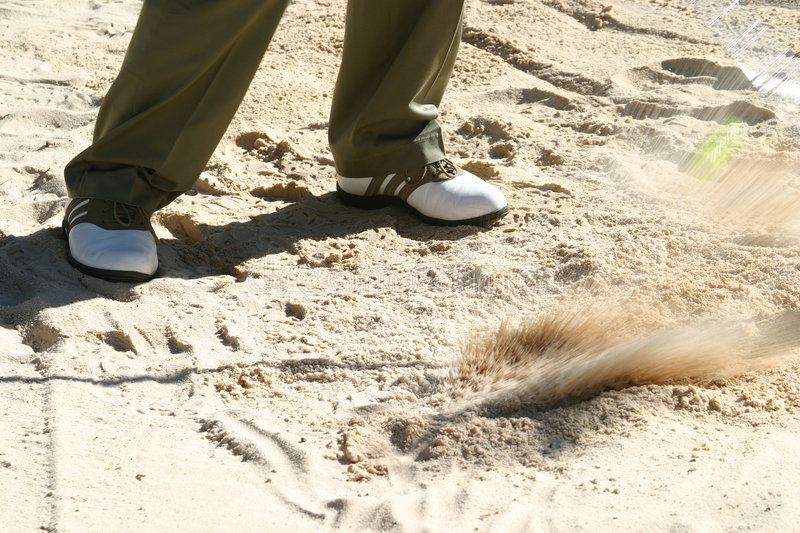 Download Playing from the bunker stock image. Image of club, sand - 108981