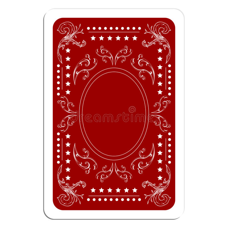 Download Playing card back stock vector. Image of betting, card - 18339240