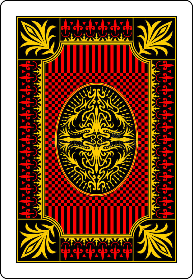Download Playing Card Back Side 62x90 Mm Stock Vector - Image: 18149359