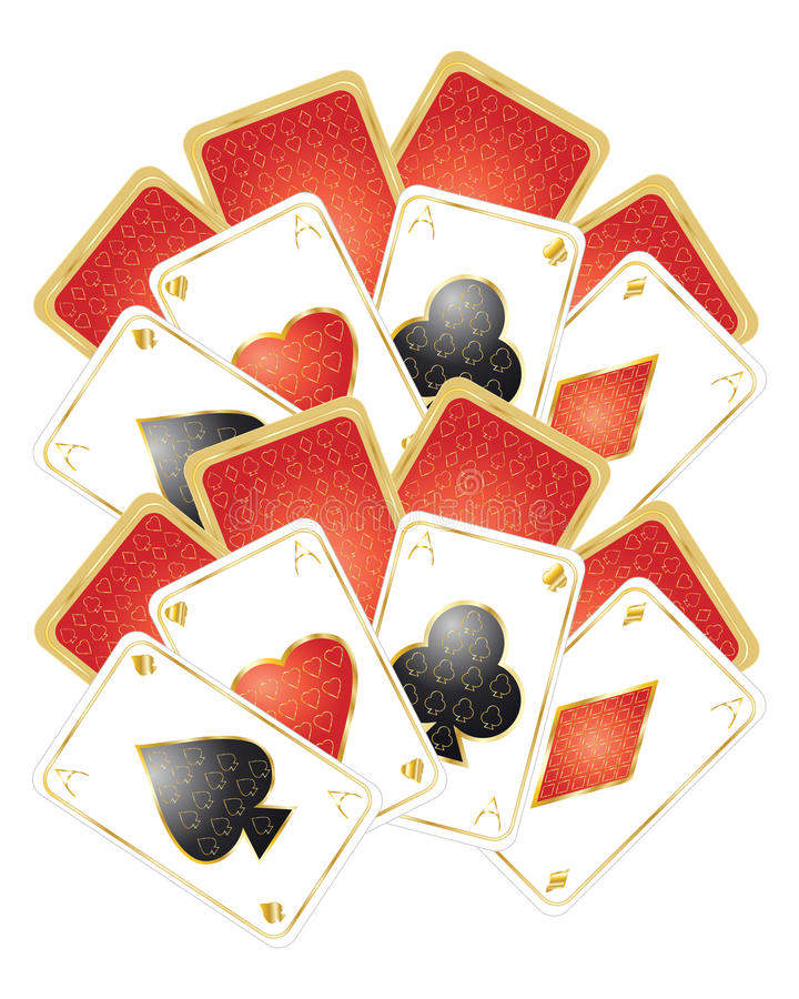 Playing Card Design Stock Image