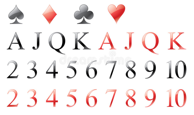 Playing card elements stock illustration