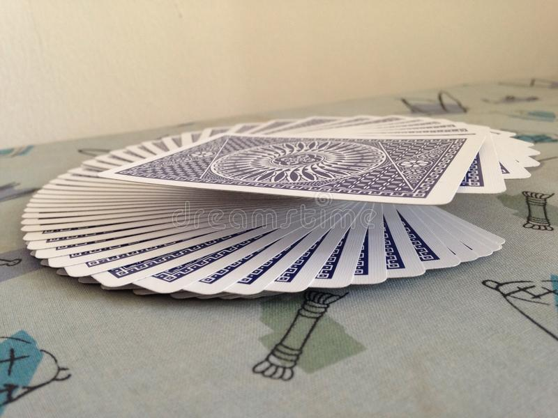 Playing Card Fanning royalty free stock image