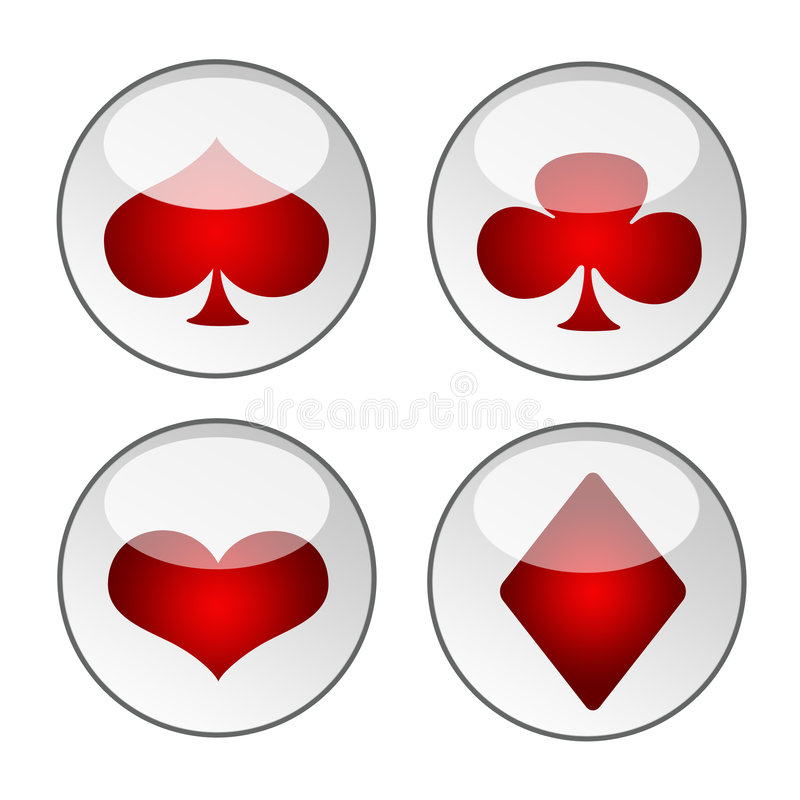 Playing card icons stock photo