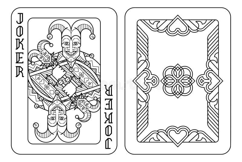 vector joker playing card