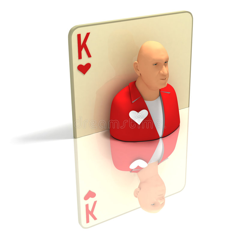 Download Playing Card: King Of Hearts With Reflection Stock Illustration - Image: 4123444