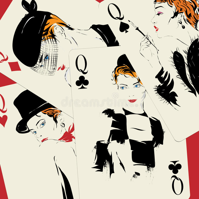 Playing card. Poker. Casino vector illustration