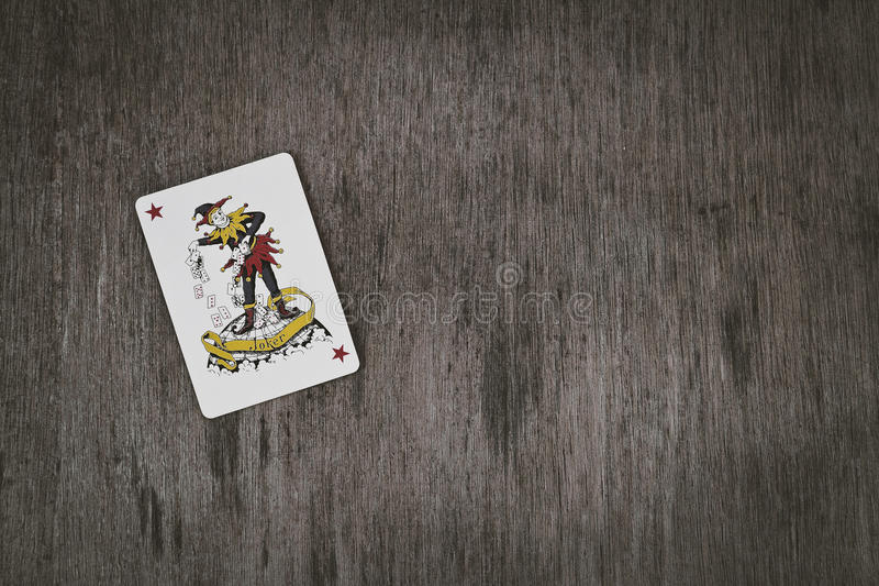 Playing card red joker background with space for you text. royalty free stock images