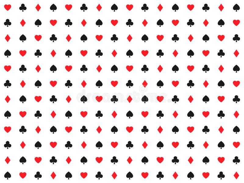 Playing Card Signs Seamless Pattern Casino Background Hearts Stock