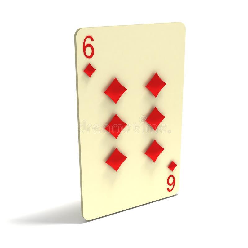Download Playing Card: Six Of Diamonds Stock Illustration - Image: 4123395