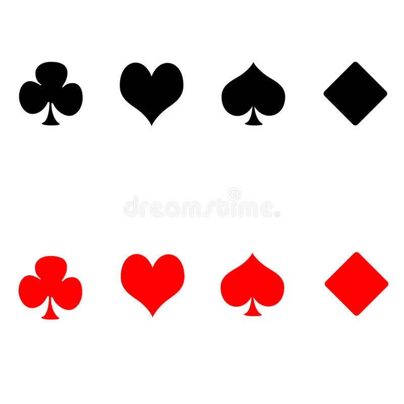 Download Playing card suits stock illustration. Illustration of gamble - 2501223