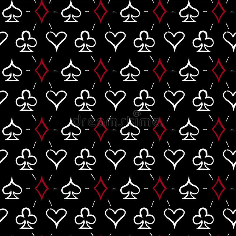 Free Playing Card Suits, Seamless Pattern Background Royalty Free Stock Photos - 84796038