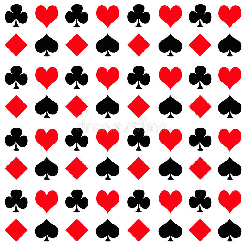 Playing Card Suits. A playing card suit pattern royalty free illustration