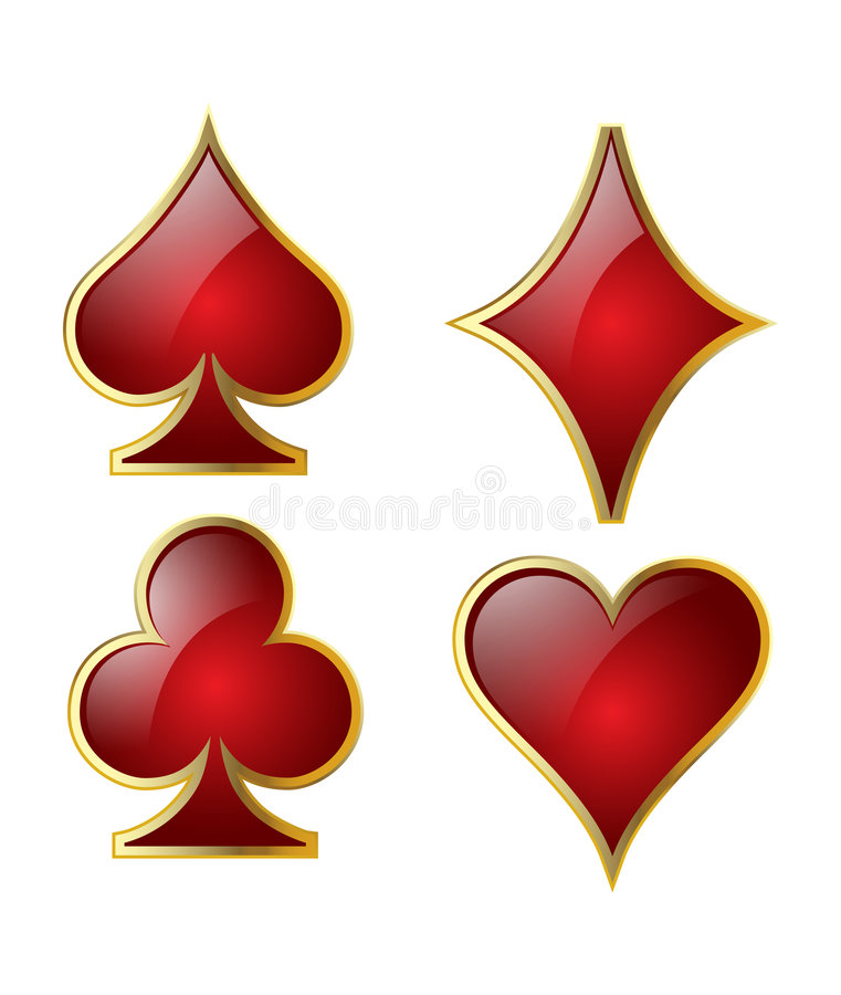 Download Playing card symbols stock vector. Image of gaming, cash - 7736976