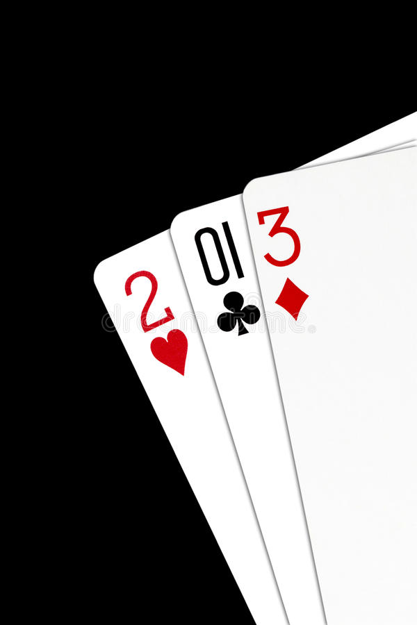 Playing Cards - 2013 Year royalty free stock photo