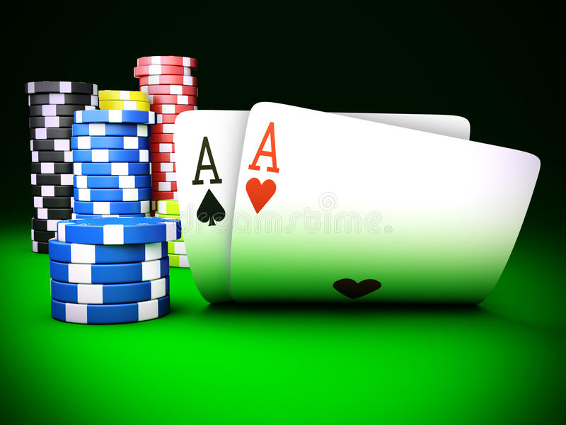 Download Playing cards stock illustration. Image of close, game - 23817568