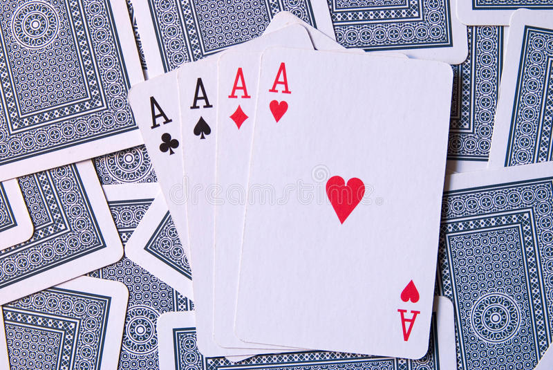 Download Playing Cards with 4 aces stock photo. Image of casino - 10662678