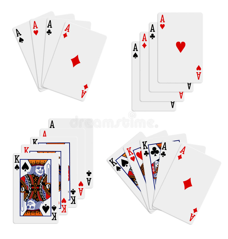 Playing cards. On the isolated white background vector illustration