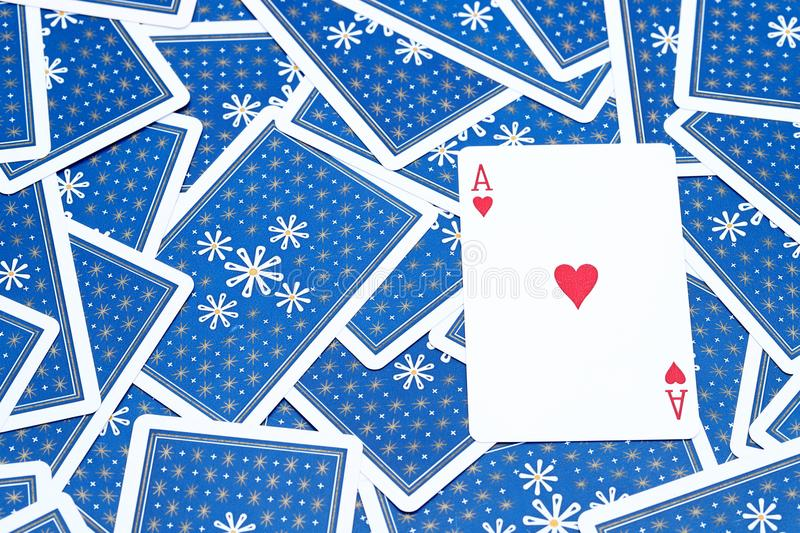 Playing cards ace of heart stock photography