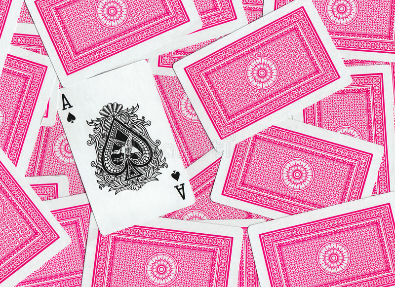 Playing Cards, Ace Of Spades Royalty Free Stock Image