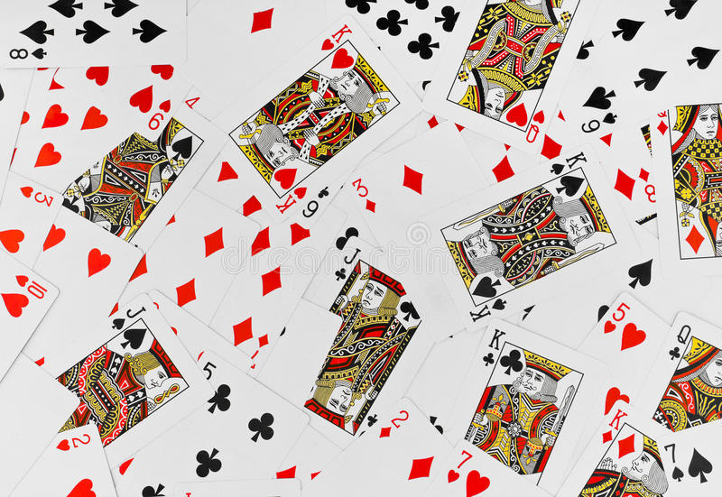 Abstract Sports Background Royalty Free Stock Image: Playing Cards Background Royalty Free Stock Photography