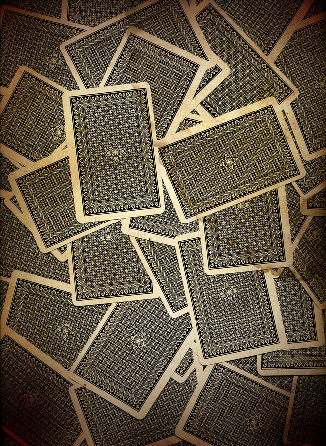 Playing Cards Background Design stock photos
