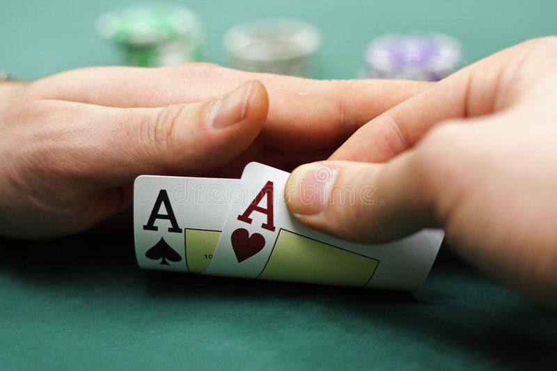 Download Playing Cards And Chips In Hands Stock Photo - Image: 7620016