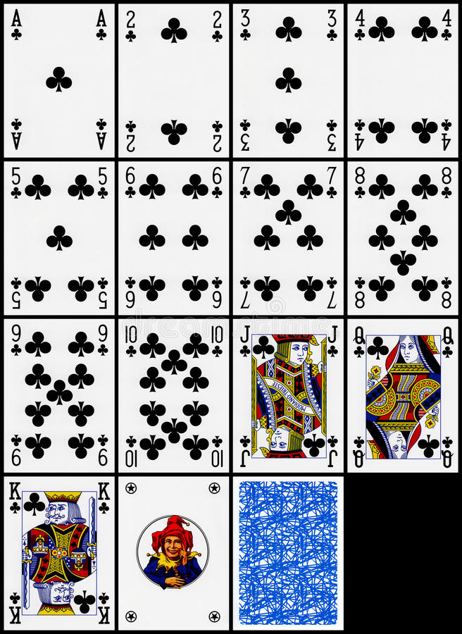 Download Playing Cards - The Clubs Suit Stock Photo - Image: 14026166