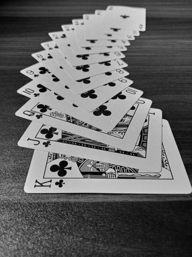 Playing cards. Design in table stock photos