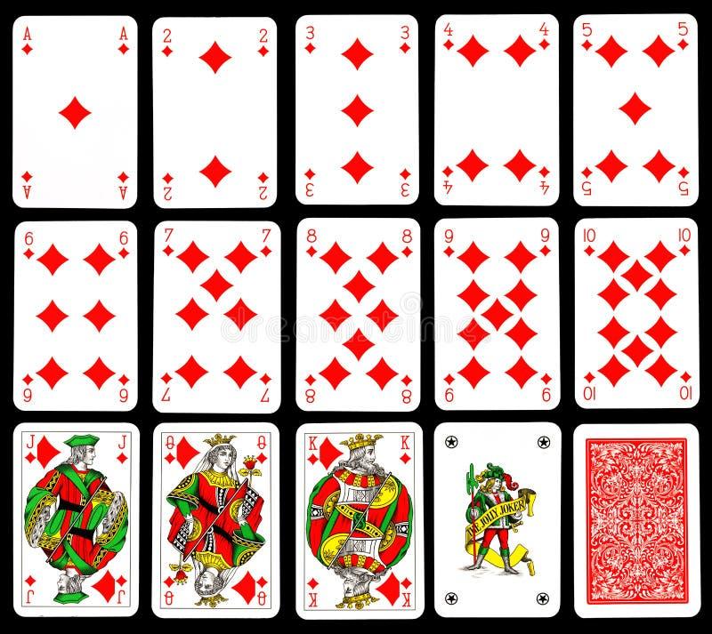 Download Playing cards - Diamond stock illustration. Illustration of flush - 16412162