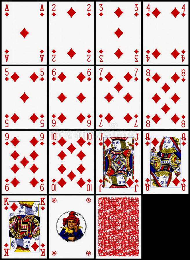 Download Playing Cards - The Diamonds Suit Stock Image - Image of drawing, draw: 14025393