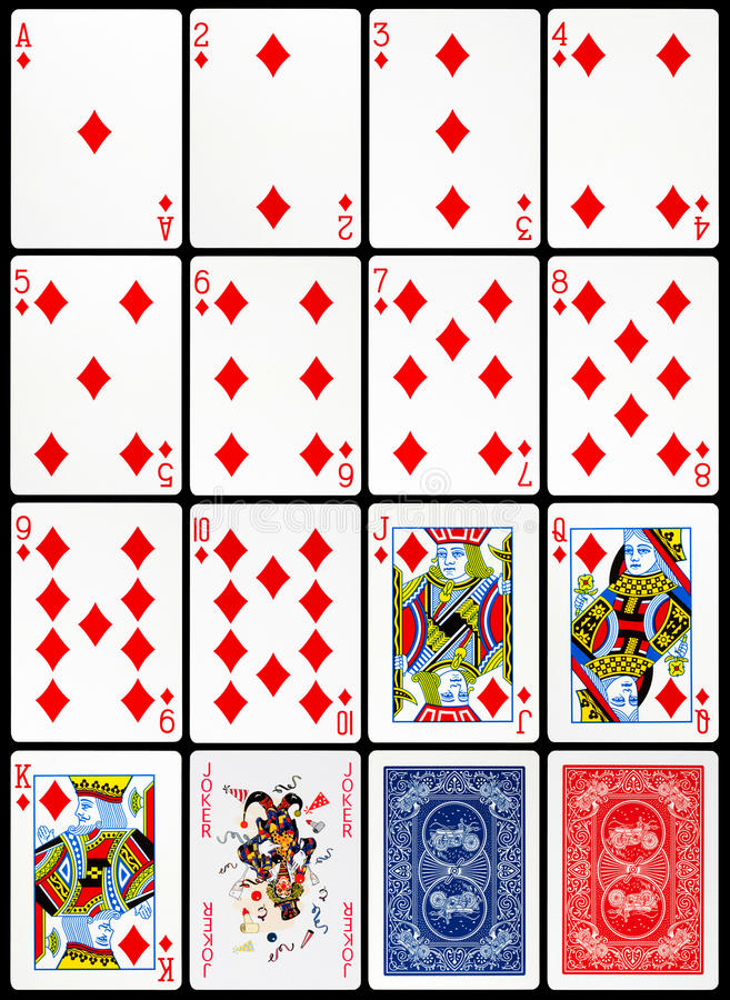 Playing Cards - Diamonds Suit stock photo