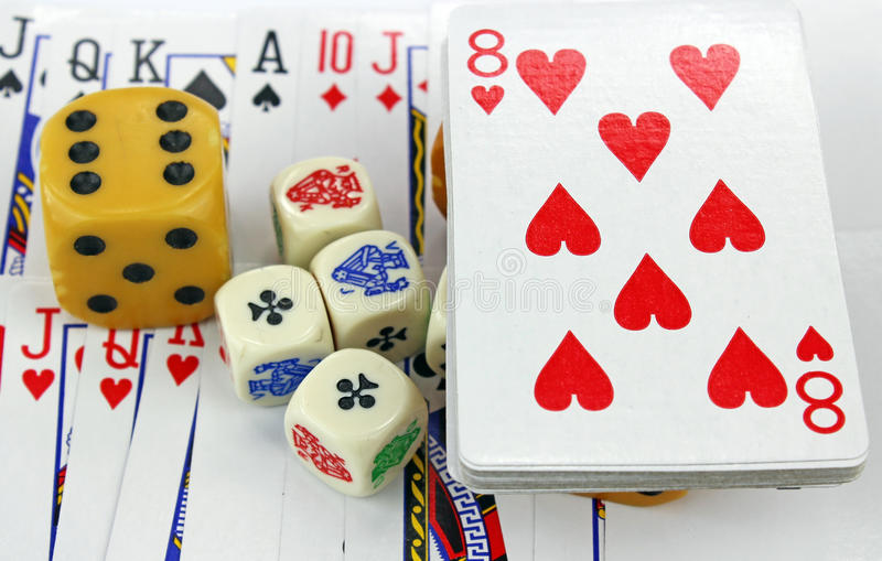 Download Playing cards with dices stock image. Image of royal - 30763261