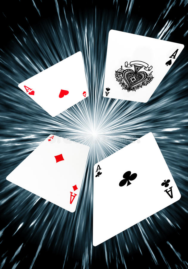 Playing Cards - Flying Aces Background vector illustration