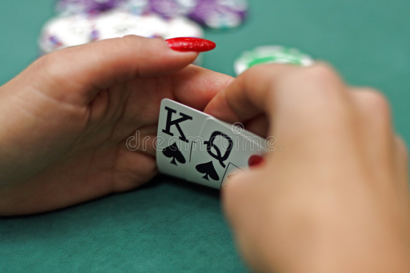 Download Playing cards in hands stock image. Image of chance, blue - 7620785