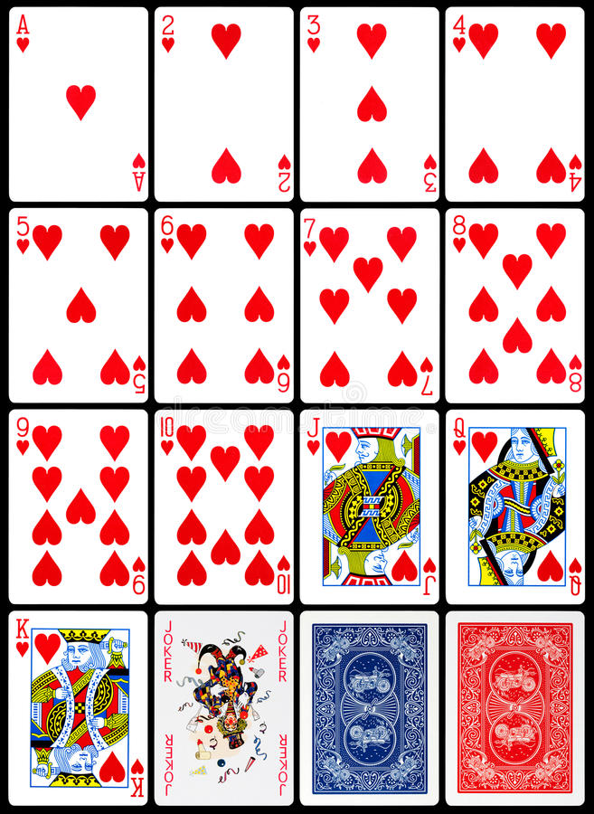 Free Playing Cards - Hearts Suit Royalty Free Stock Photo - 28467725