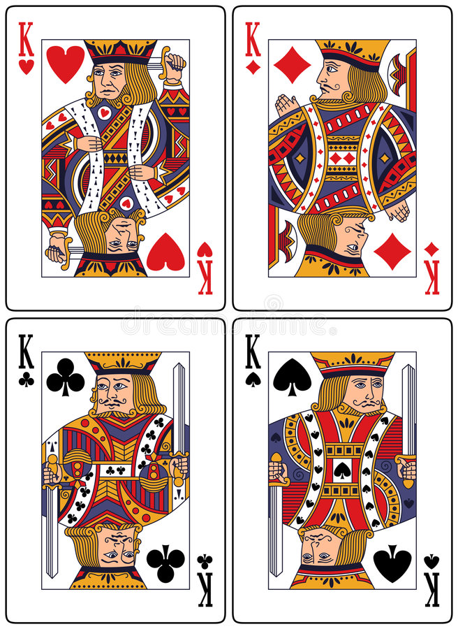 Download Playing Cards - Kings stock vector. Illustration of design - 8685646