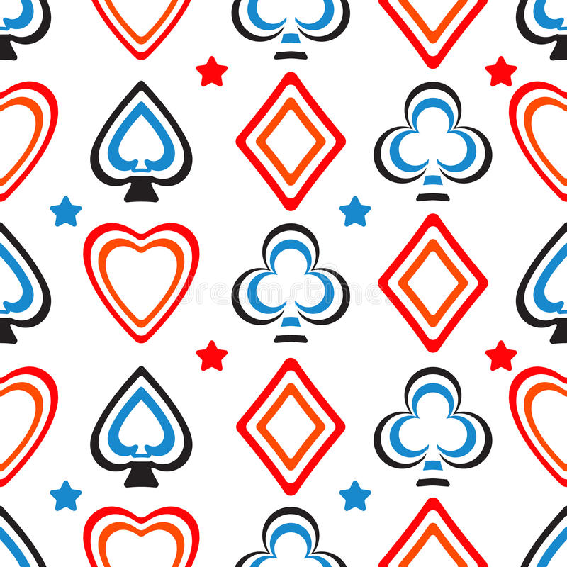 Playing cards pattern stock image