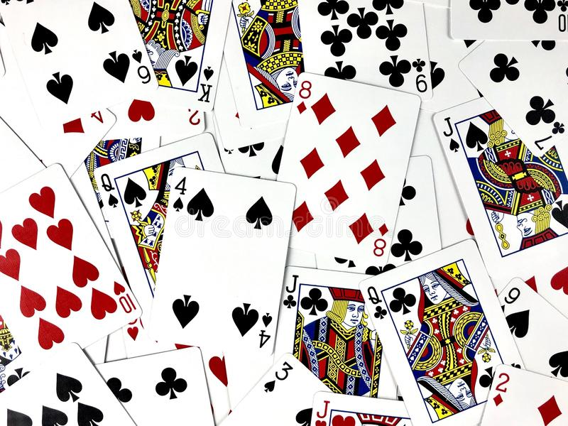 Playing cards. Scattered and filling frame vector illustration