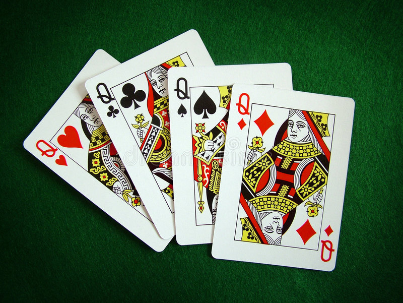 Playing cards and poker stock images
