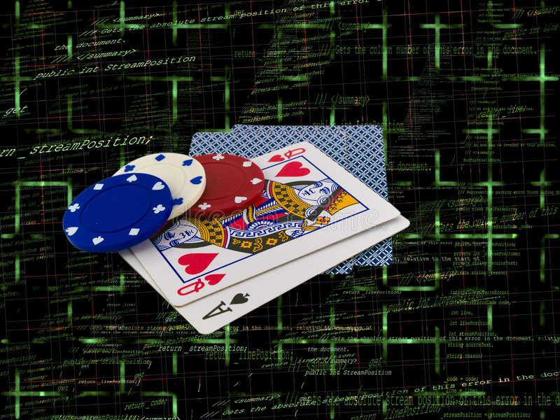 Download Playing Cards With Poker Chips On Source Code Stock Illustration - Illustration: 6190992