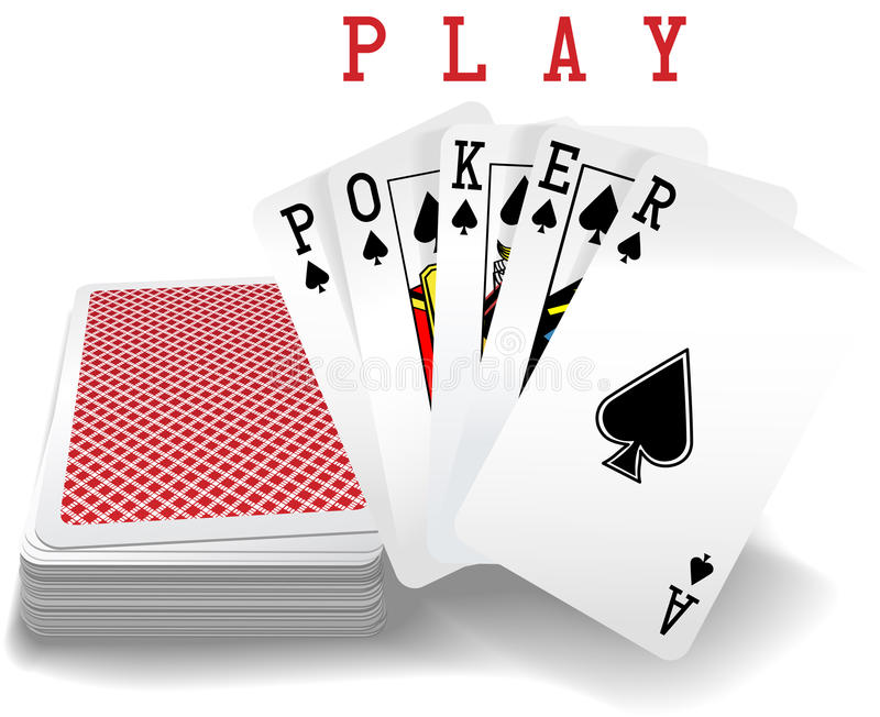 Playing Cards Poker Hand Deck vector illustration